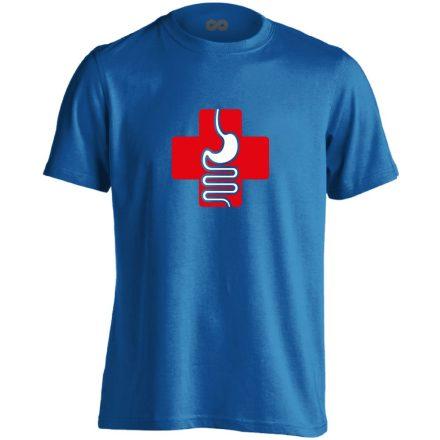 GyógyGyomor gasztroenterológiai férfi póló (kék)