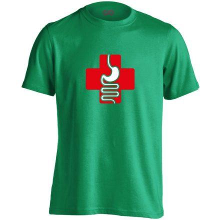 GyógyGyomor gasztroenterológiai férfi póló (zöld)