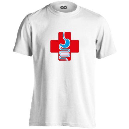 GyógyGyomor gasztroenterológiai férfi póló (fehér)