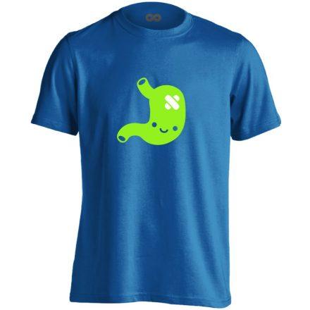 PiciPocak gasztroenterológiai férfi póló (kék)