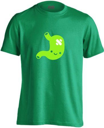PiciPocak gasztroenterológiai férfi póló (zöld)