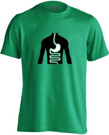 FlamóSikán gasztroenterológiai férfi póló (zöld)