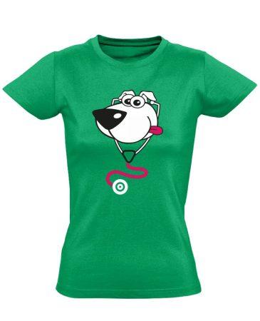 BlökiDoki gyermekgyógyászati női póló (zöld)
