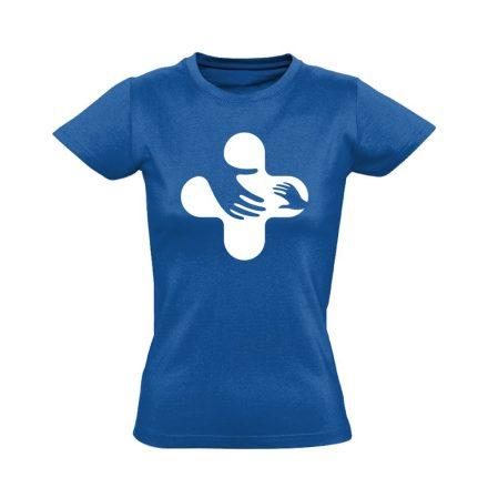 Jövő-Óvó gyermekgyógyászati női póló (kék)