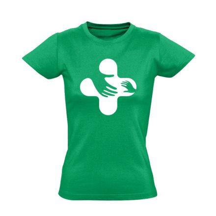 Jövő-Óvó gyermekgyógyászati női póló (zöld)