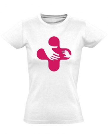 Jövő-Óvó gyermekgyógyászati női póló (fehér)