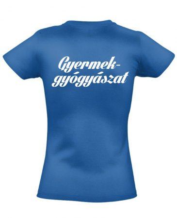 Gyermekgyógyászat női póló (kék)