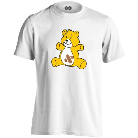 BibisBocs gyermekgyógyászati férfi póló (fehér)