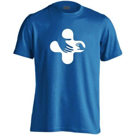 Jövő-Óvó gyermekgyógyászati férfi póló (kék)