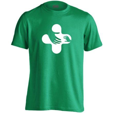 Jövő-Óvó gyermekgyógyászati férfi póló (zöld)