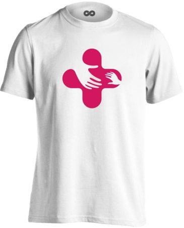 Jövő-Óvó gyermekgyógyászati férfi póló (fehér)