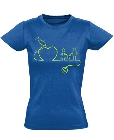 DokiMisszió háziorvosi női póló (kék)