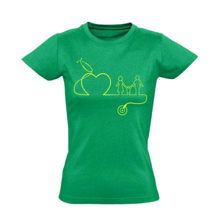DokiMisszió háziorvosi női póló (zöld)