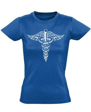 Jeles háziorvosi női póló (kék)