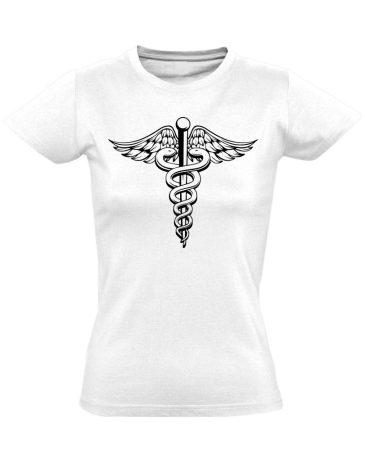 Jeles háziorvosi női póló (fehér)