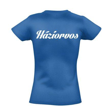 Háziorvosi női póló (kék)