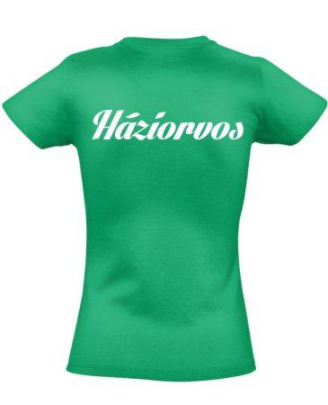 Háziorvosi női póló (zöld)