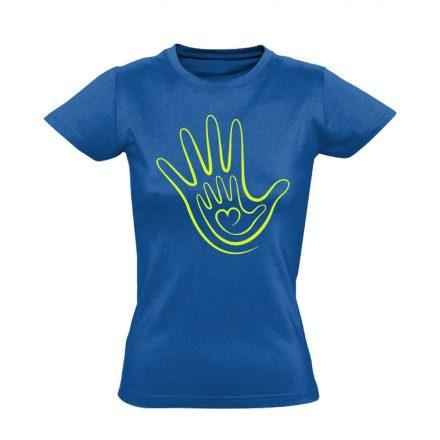 Kéz a kézben háziorvosi női póló (kék)