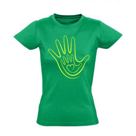 Kéz a kézben háziorvosi női póló (zöld)