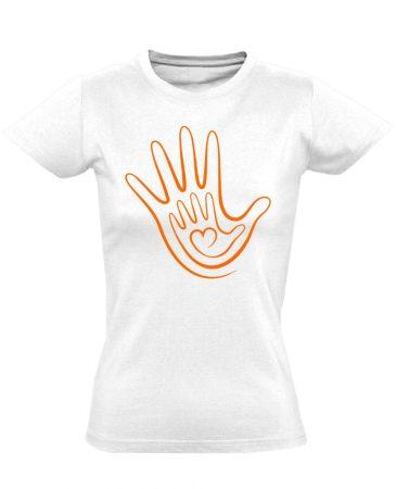 Kéz a kézben háziorvosi női póló (fehér)
