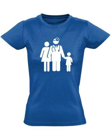 CsaládOrvos háziorvosi női póló (kék)