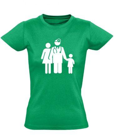 CsaládOrvos háziorvosi női póló (zöld)