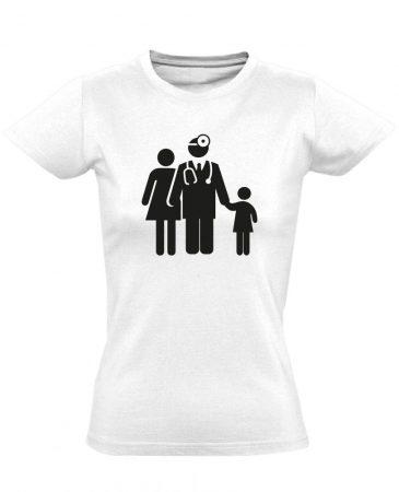 CsaládOrvos háziorvosi női póló (fehér)