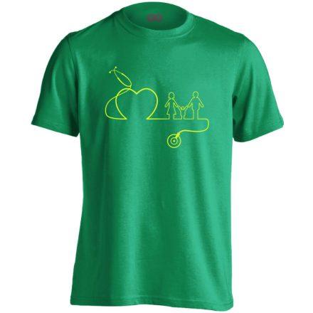 DokiMisszió háziorvosi férfi póló (zöld)