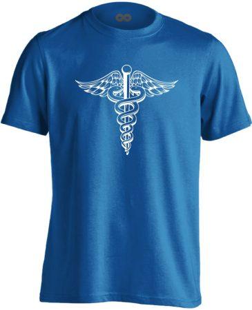 Jeles háziorvosi férfi póló (kék)