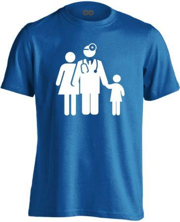 CsaládOrvos háziorvosi férfi póló (kék)