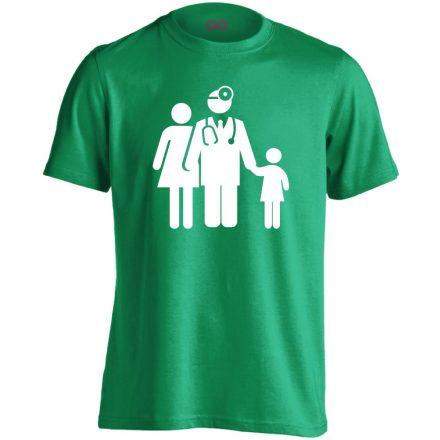 CsaládOrvos háziorvosi férfi póló (zöld)
