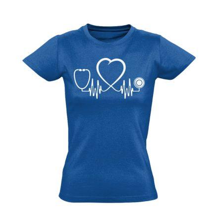 Az Élet Hangja intenzív osztályos női póló (kék)