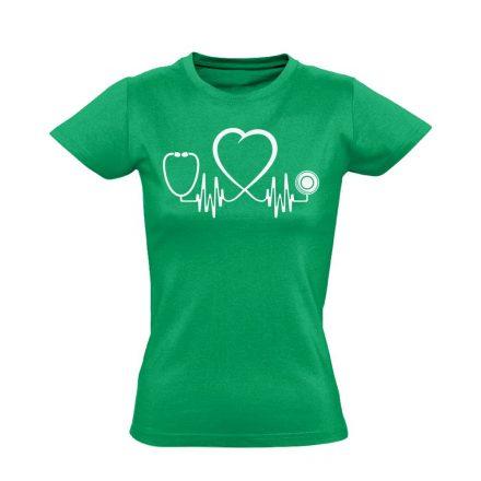 Az Élet Hangja intenzív osztályos női póló (zöld)