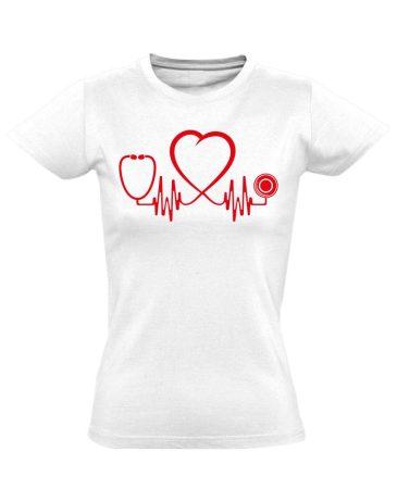 Az Élet Hangja intenzív osztályos női póló (fehér)