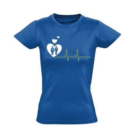 A Szeretet Segít intenzív osztályos női póló (kék)