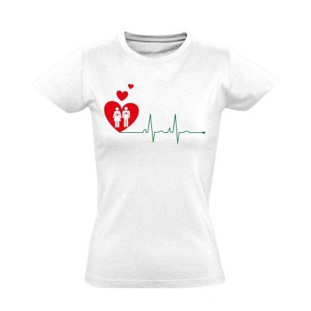 A Szeretet Segít intenzív osztályos női póló (fehér)