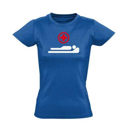 Gyógyulj! intenzív osztályos női póló (kék)