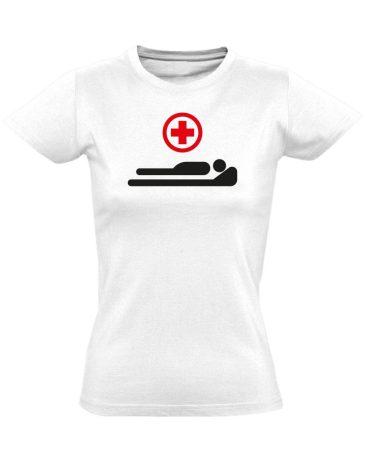 Gyógyulj! intenzív osztályos női póló (fehér)