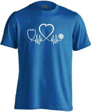Az Élet Hangja intenzív osztályos férfi póló (kék)