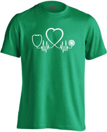 Az Élet Hangja intenzív osztályos férfi póló (zöld)