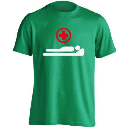 Gyógyulj! intenzív osztályos férfi póló (zöld)