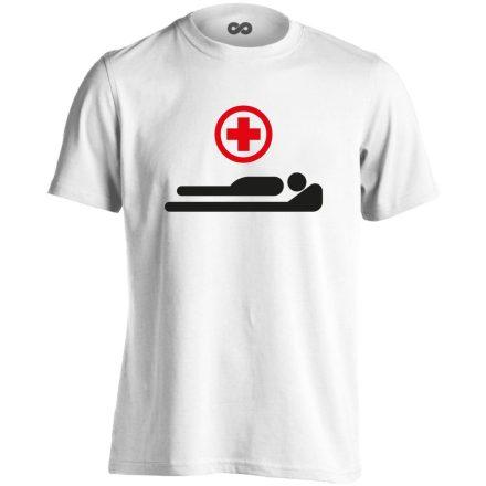 Gyógyulj! intenzív osztályos férfi póló (fehér)