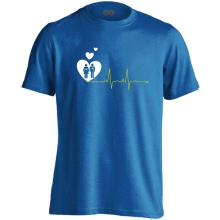 A Szeretet Segít intenzív osztályos férfi póló (kék)
