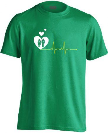 A Szeretet Segít intenzív osztályos férfi póló (zöld)