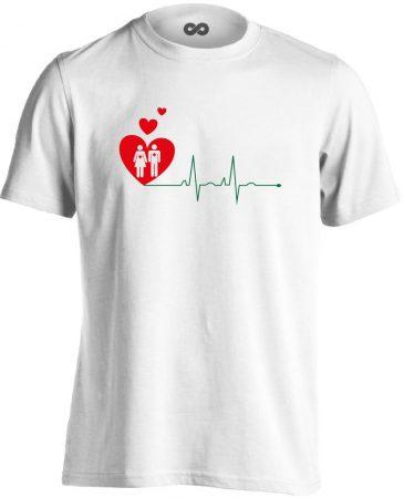A Szeretet Segít intenzív osztályos férfi póló (fehér)