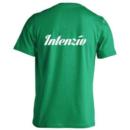 Intenzív osztályos férfi póló (zöld)