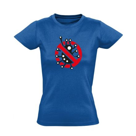 Fertőzni Tilos infektológiai női póló (kék)