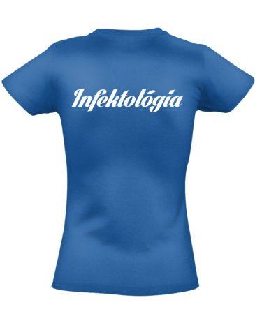 Infektológia női póló (kék)