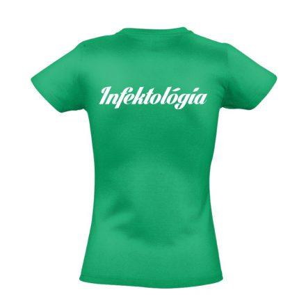 Infektológia női póló (zöld)