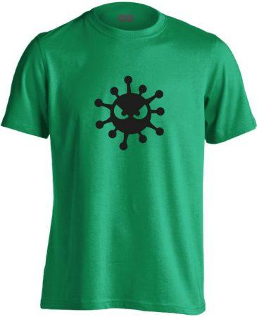 HarciBaci infektológiai férfi póló (zöld)